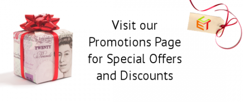 Promotions Page for Special Offers and Discounts